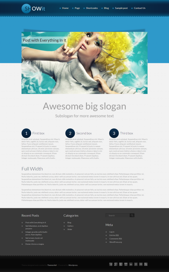 - Blog|Free wordpress themes