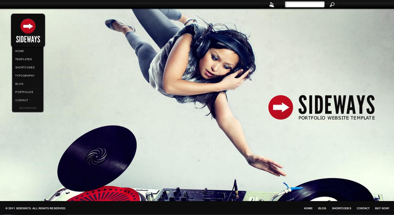 Sideways Portfolio Website WordPress Theme - Photography