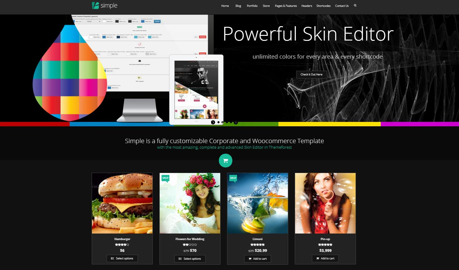 Simple | Woocommerce Corporate + Skin Editor Pro - Premium wordpress themes|Ecommerce>WooCommerce
