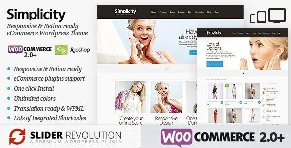 Simplicity - eCommerce WordPress Theme