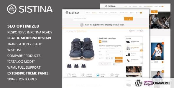 Sistina - Flat Multipurpose Shop Theme - Ecommerce