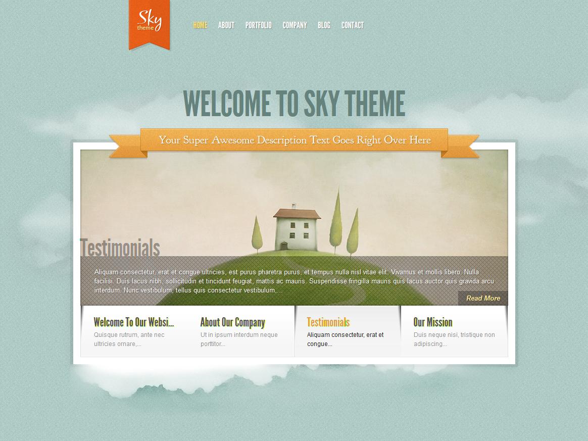 Sky WordPress Theme - Premium wordpress themes