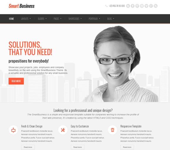 SmartBusiness - Responsive Multi-Purpose WordPress - Business