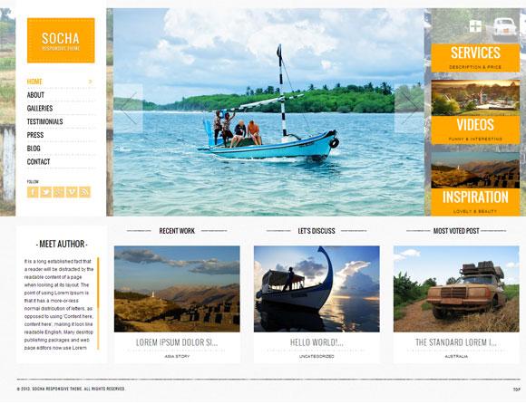 Socha Responsive WordPress Theme - Photography|Travel