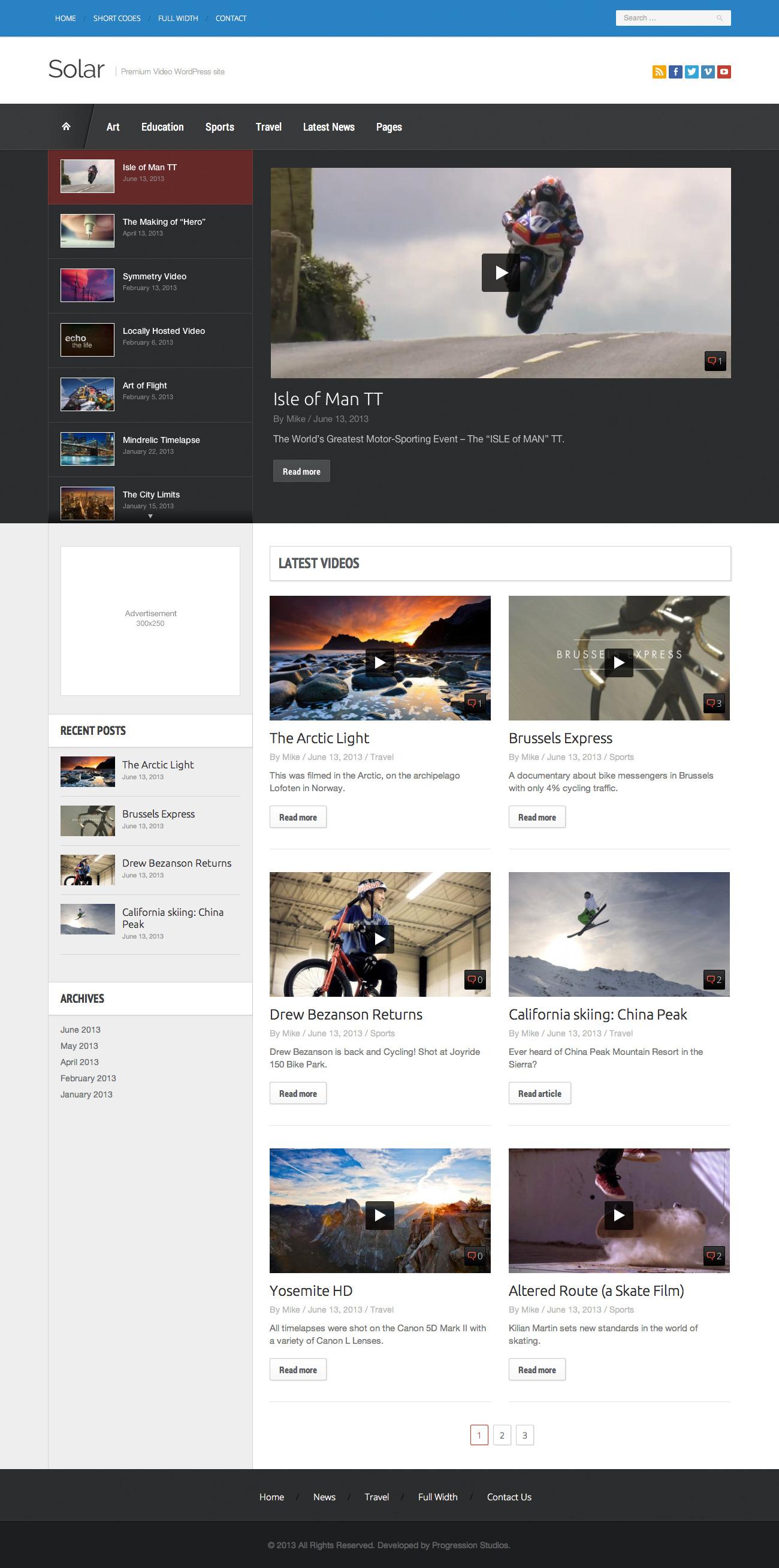 Solar - Video WordPress Theme - Premium wordpress themes