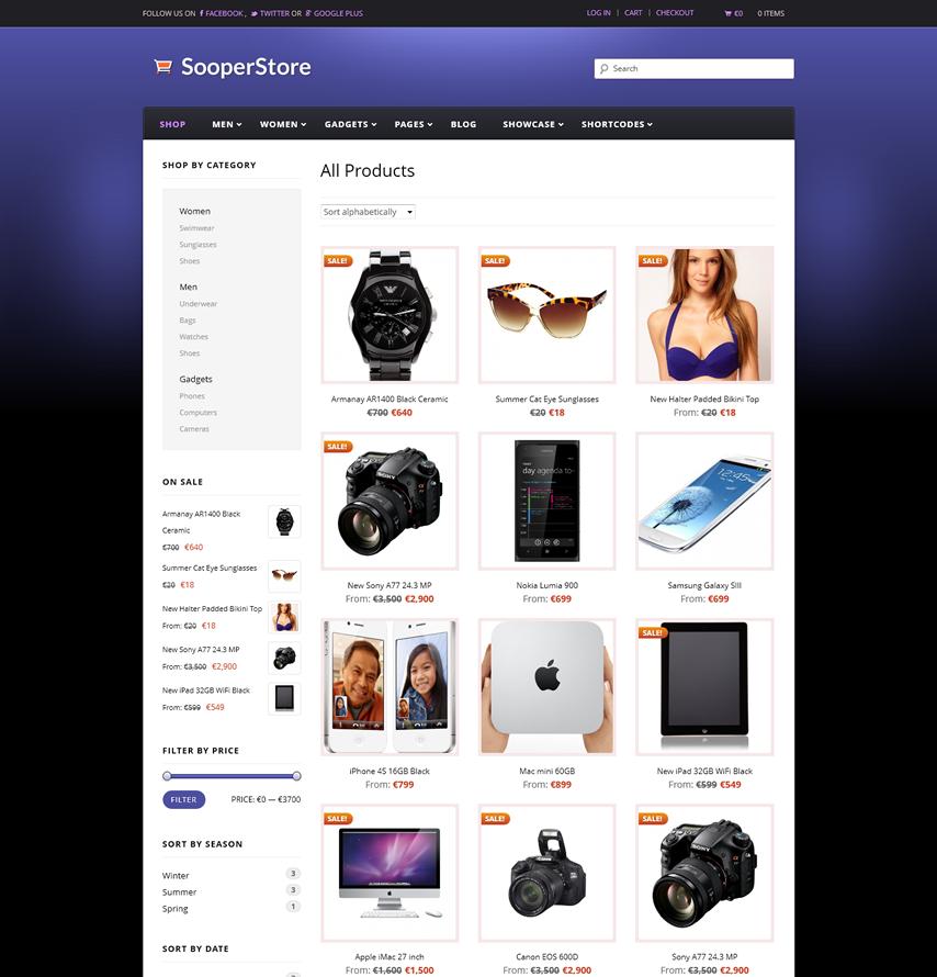 Sooperstore - Responsive WooCommerce Theme - Ecommerce>WooCommerce