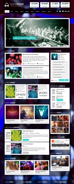 SoundWave - The Music Vibe WordPress Theme1 - Music|Premium wordpress themes