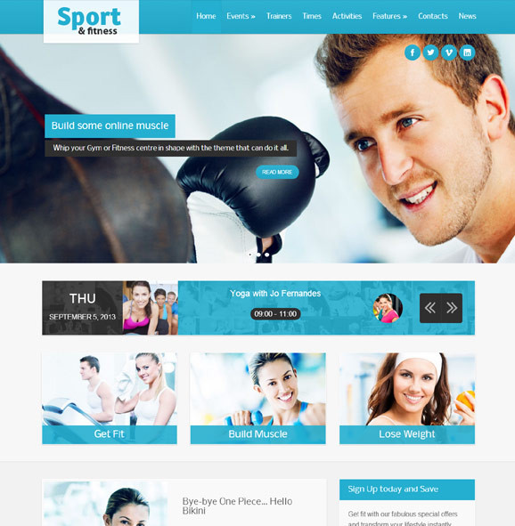 Sport & Fitness Theme for Gyms & Fitness clubs - Fitness Premium wordpress themes Sports