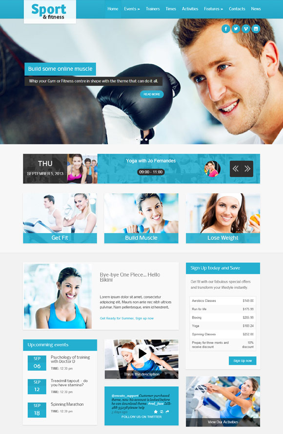 Sport & Fitness Theme for Gyms & Fitness clubs - Fitness|Premium wordpress themes