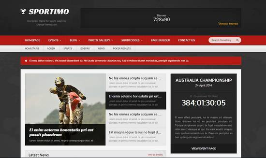 Sportimo - Sport & Events Magazine Theme - Premium wordpress themes|Sports
