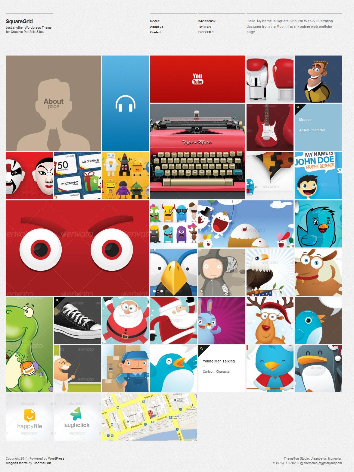 SquareGrid - Fully Responsive Theme For Portfolio - Gallery|Metro-style|Portfolio