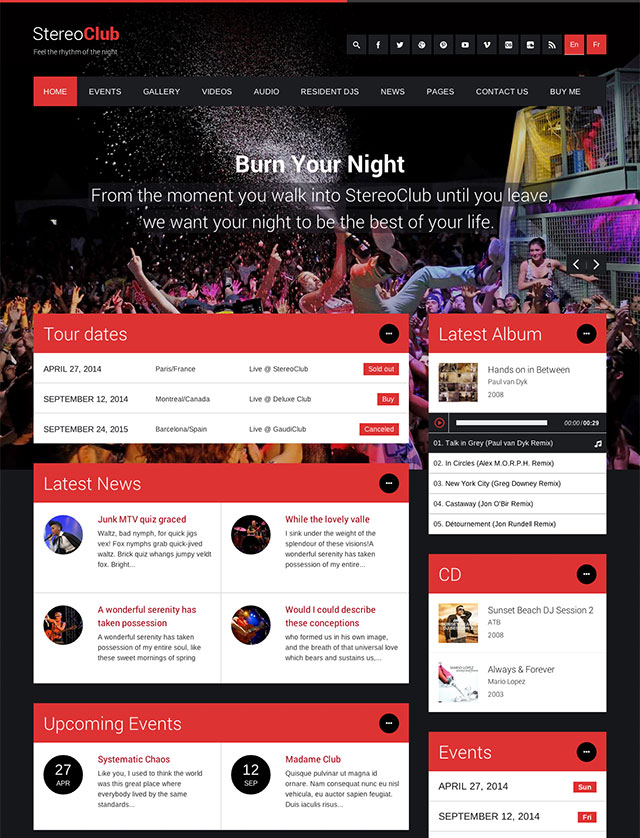 StereoClub / NightClub & Music WordPress Theme - Music|Premium wordpress themes