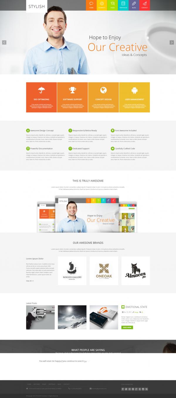STYLISH - Metro Multi-Purpose WordPress Theme - Metro-style