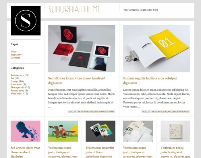 Suburbia Free Wordpress Theme - Blog|Free wordpress themes