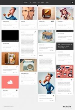 SUPER GRID Fullscreen Grid-Based Portfolio-Blog - Pinterest