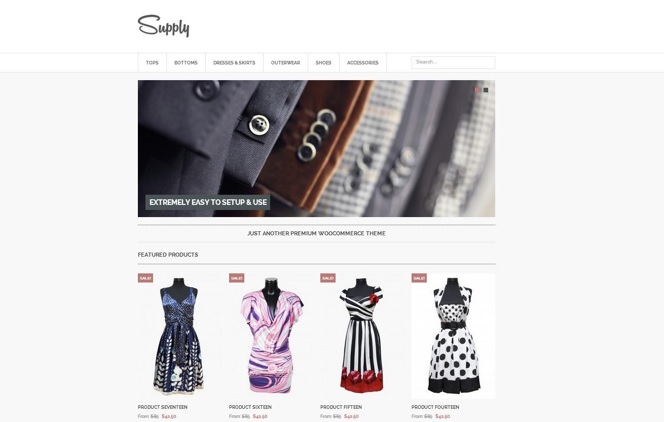 Supply - Responsive eCommerce WordPress Theme - Premium wordpress themes Ecommerce>WooCommerce