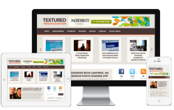 Textured WordPress Theme - Magazine