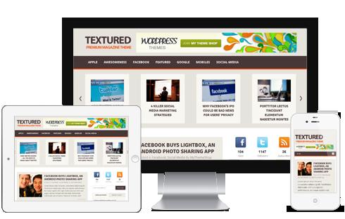 Textured WordPress Theme - Magazine