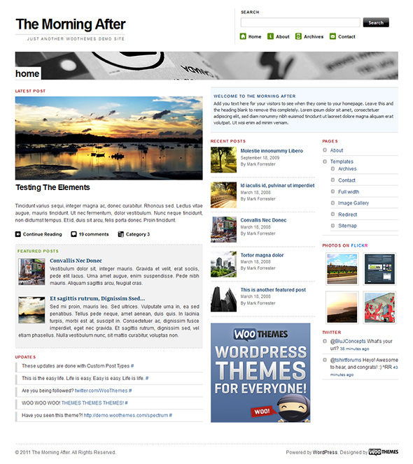 The Morning After free WordPress Theme - Blog|Free wordpress themes
