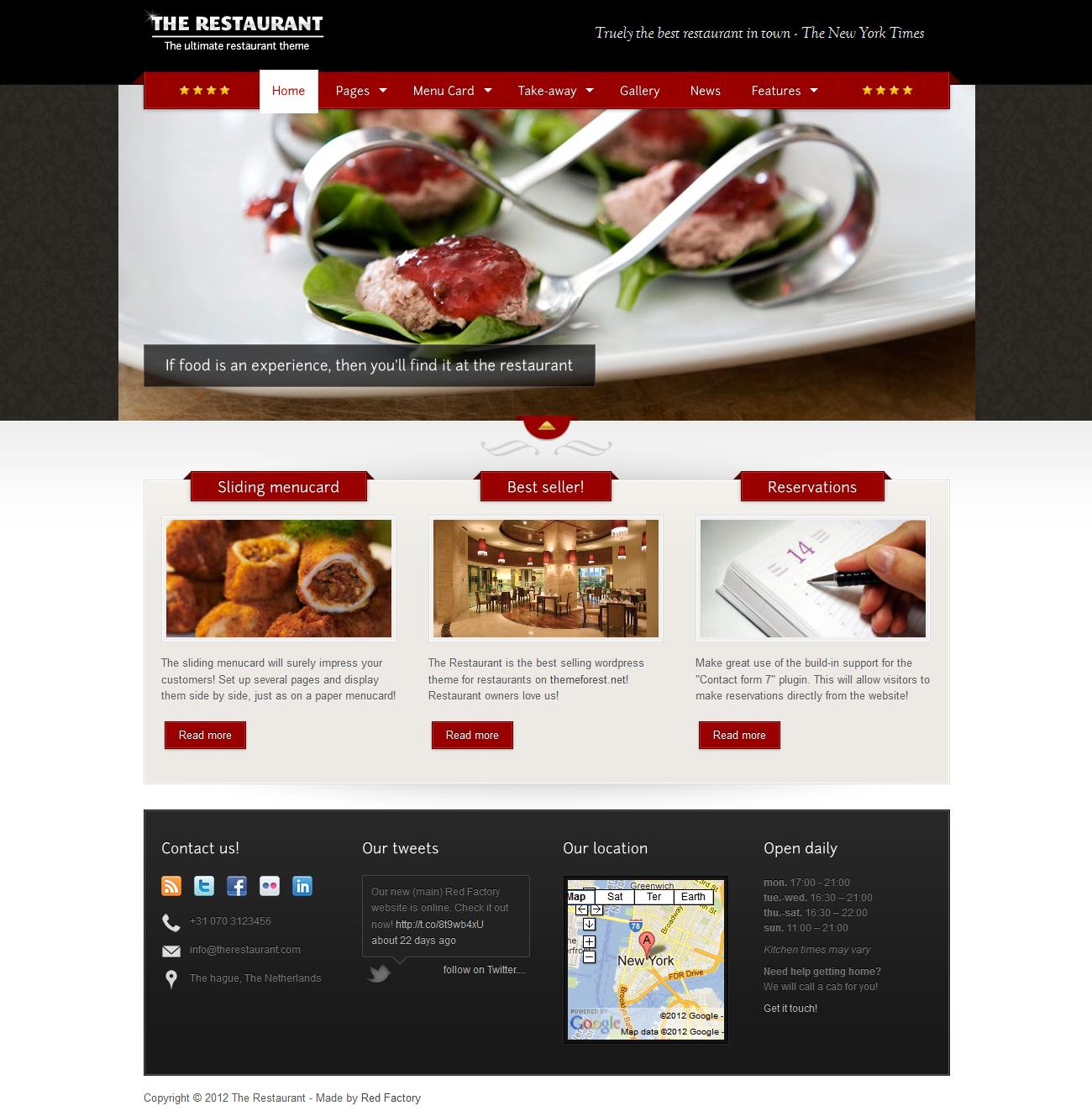 The Restaurant - Ecommerce>Cart66|Premium wordpress themes|Restaurant