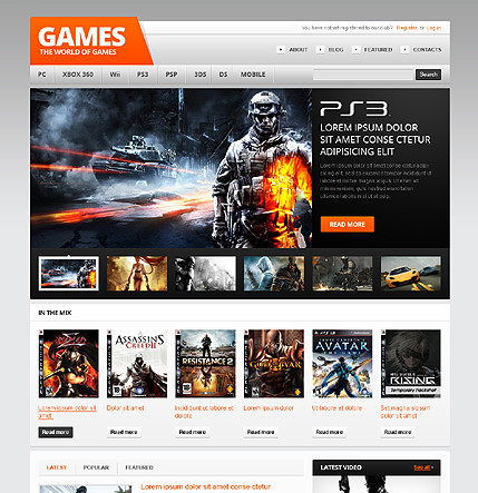 The world of games - Gaming WordPress Theme - Gaming