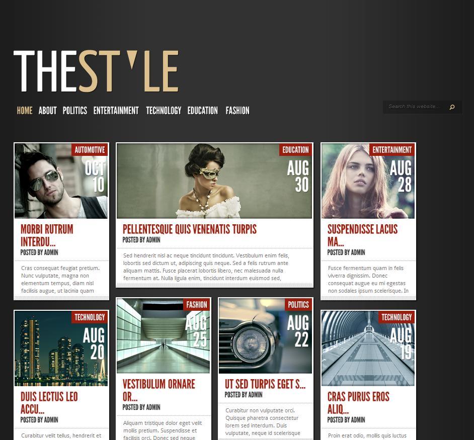 TheStyle WordPress Theme - Premium wordpress themes
