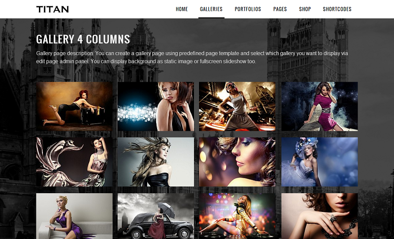 Titan Responsive Portfolio Photography Theme - Gallery|Photography|Portfolio