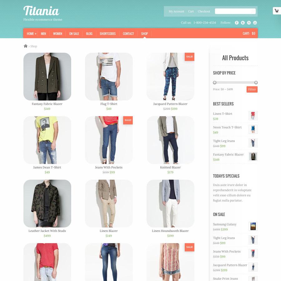 Titania - Flexible eCommerce Shop Theme - Ecommerce>WooCommerce