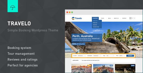 Travelo - Responsive Booking Wordpress Theme - Hotel|Travel
