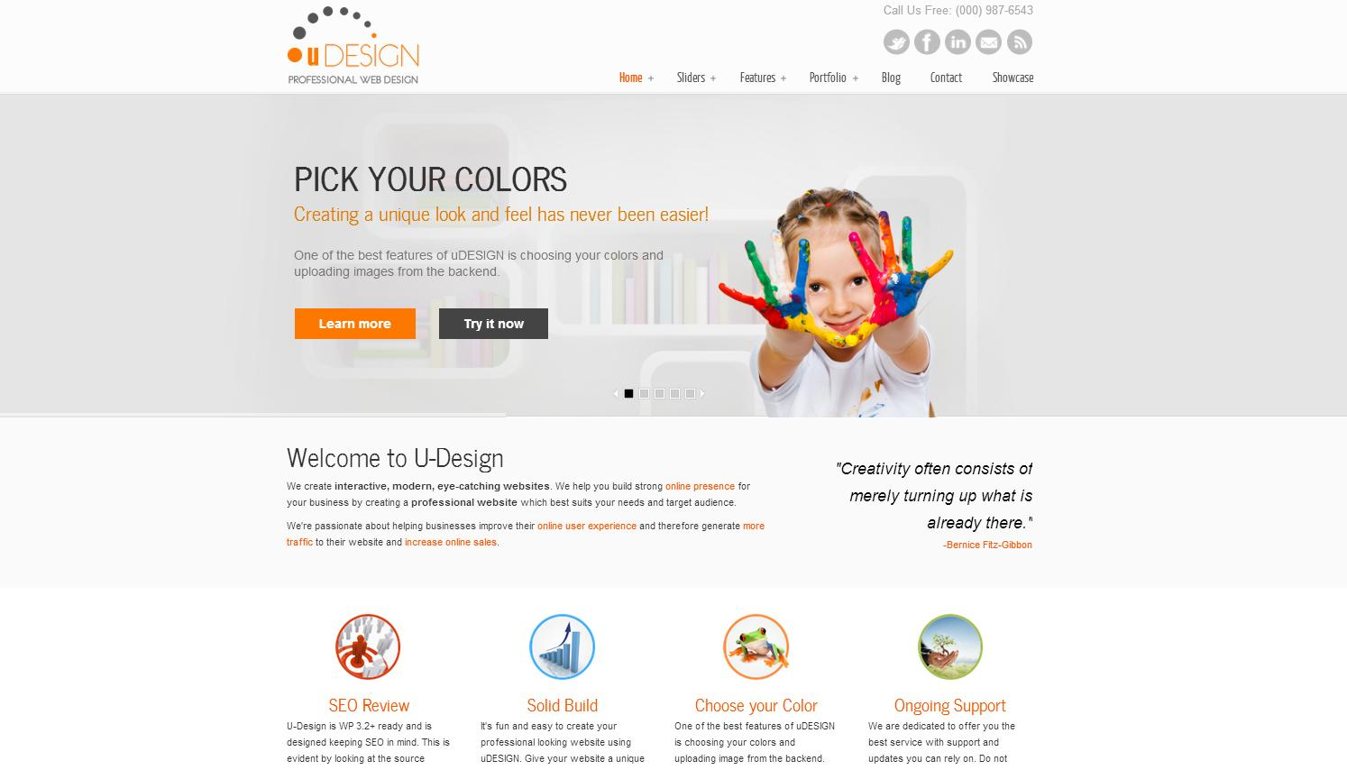 U-Design WordPress Theme - Business