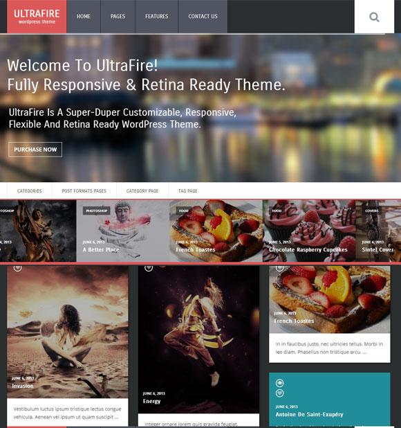 UltraFire - Retina Responsive WordPress Blog Theme - Creative|Premium wordpress themes