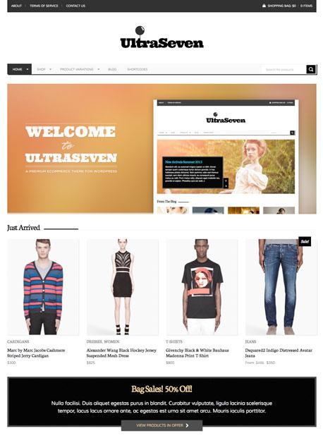 UltraSeven WordPress WooCommerce Theme - Ecommerce>WooCommerce