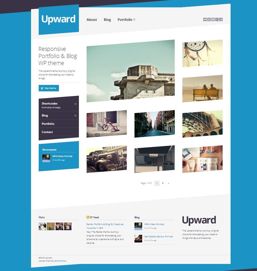 Upward: Portfolio & Blog for Creatives - Photography|Portfolio|Tumblr-Style