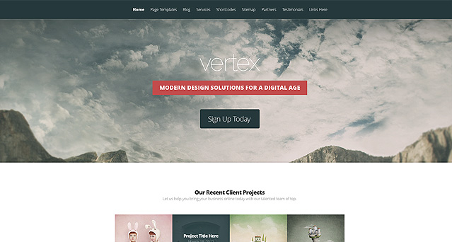Vertex WordPress Theme - Premium wordpress themes