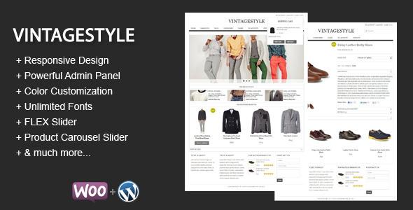 VintageStyle - Responsive E-commerce Theme - Ecommerce>WooCommerce