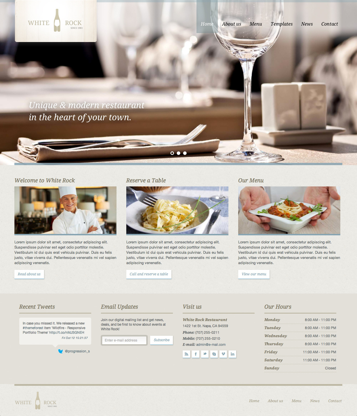 White Rock - Restaurant & Winery Theme - Premium wordpress themes|Restaurant