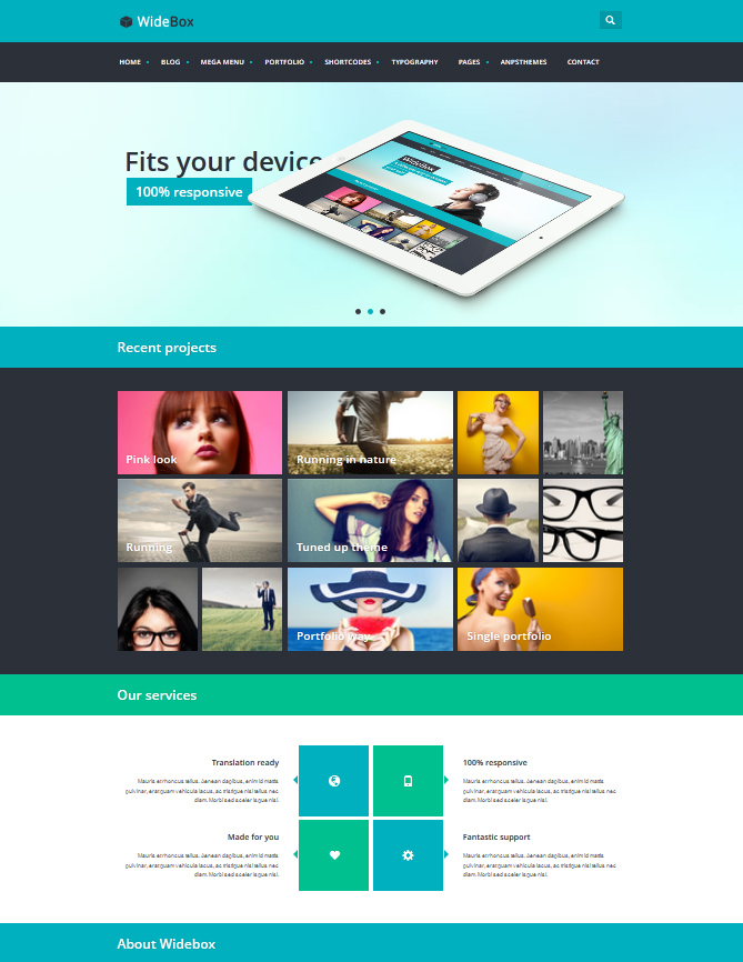 WideBox - Responsive Multi-Purpose Theme - Metro-style