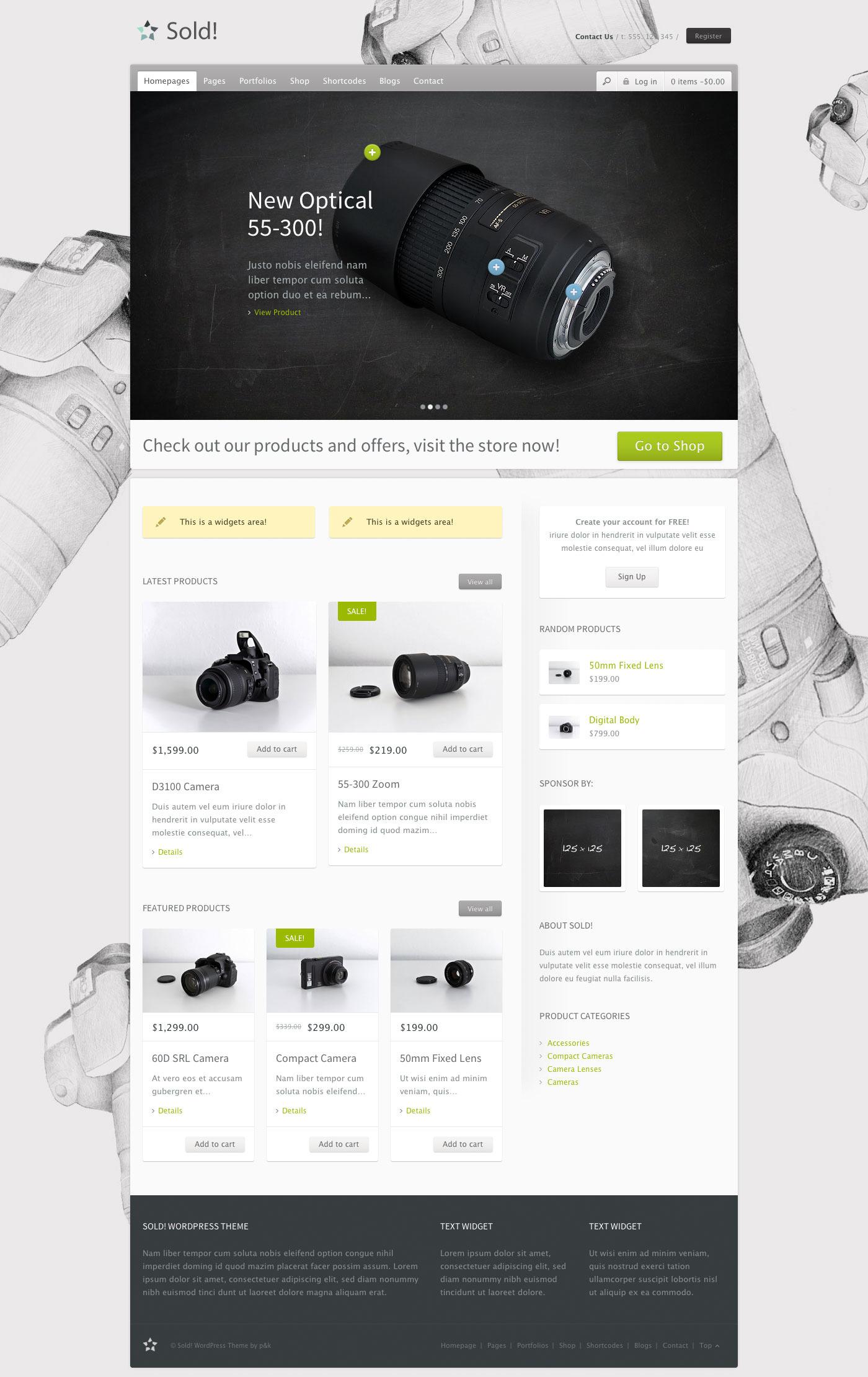 WordPress Sold! Responsive/E-Commerce Theme - Ecommerce>WooCommerce