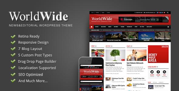 World Wide - Responsive Magazine WP Theme - Premium wordpress themes