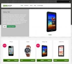 Zenshop free eCommerce Wordpress Theme - Ecommerce>Cart66