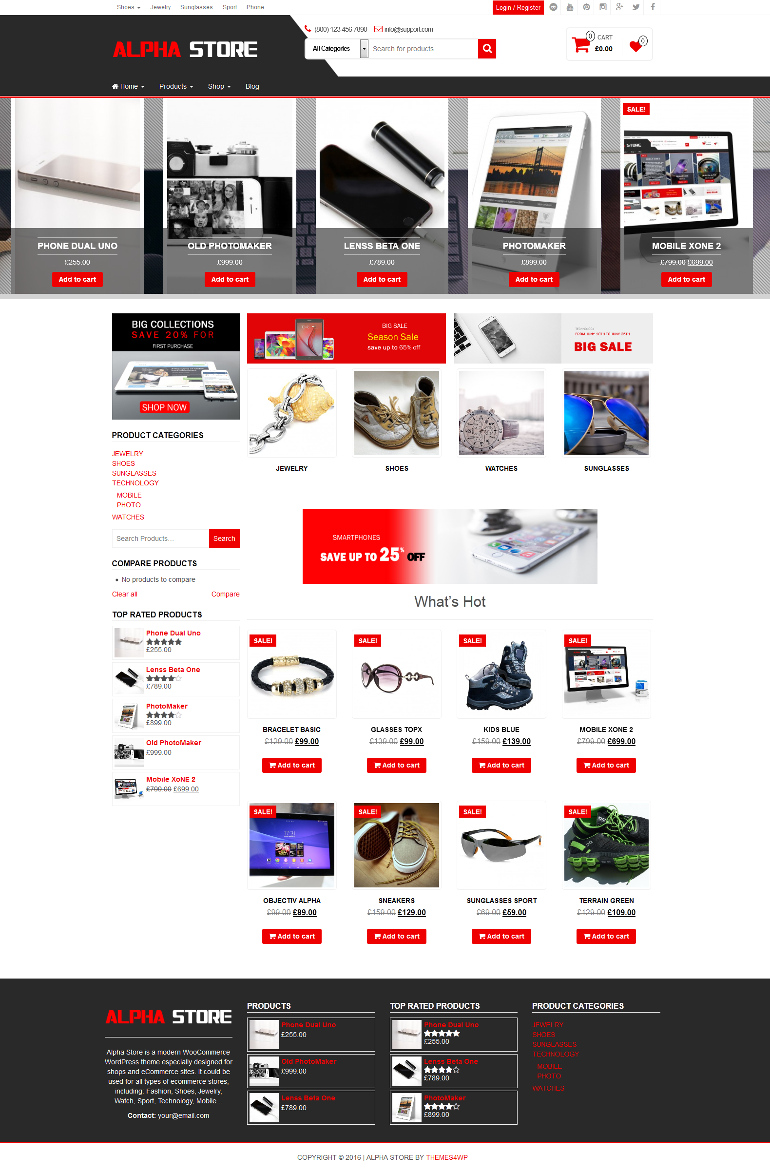 Alpha store pro woocommerce wordpress theme for Homepage shop