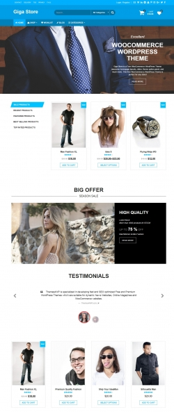free woocommerce wordpress theme