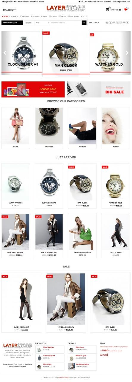 LayerStore – Free WooCommerce WordPress Theme