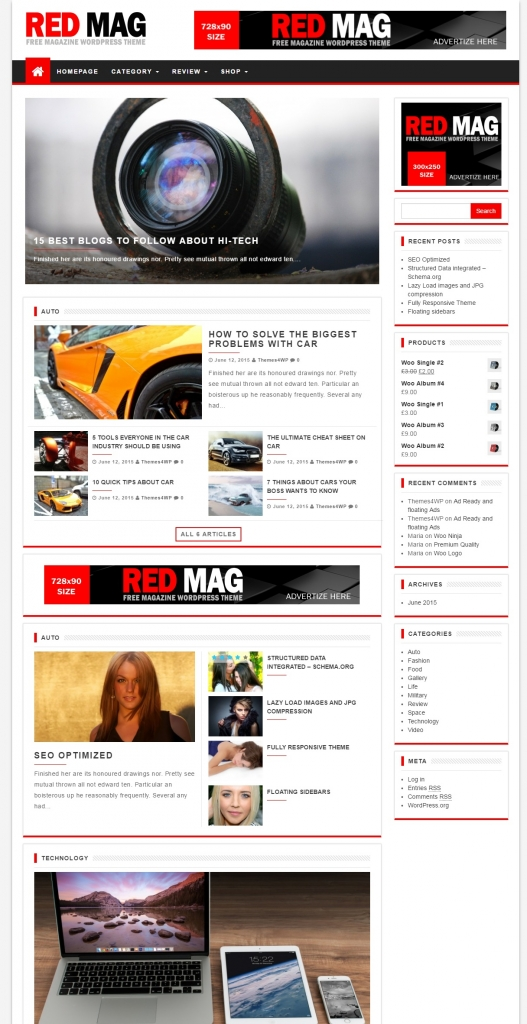 Red Mag - Themes4WP