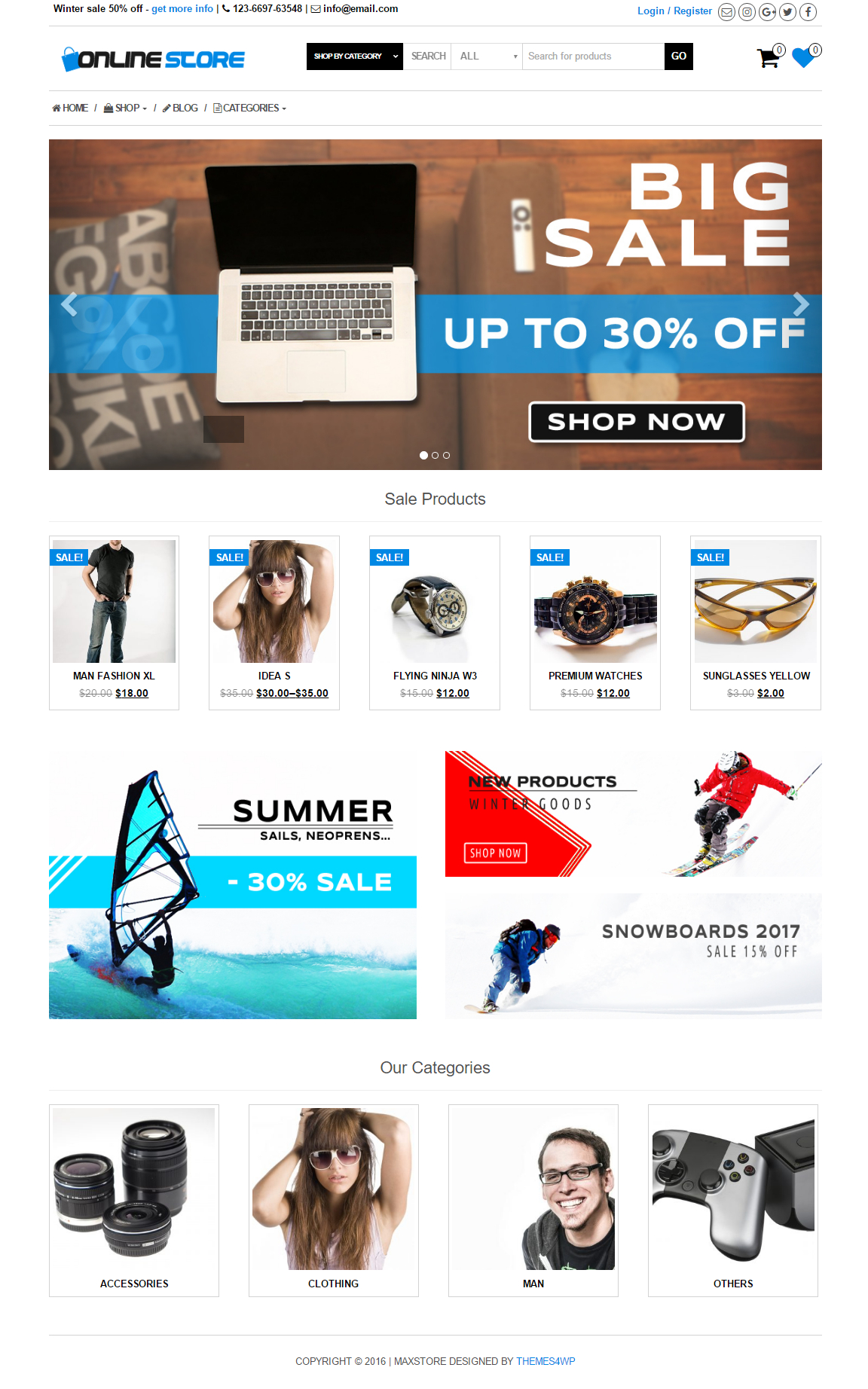 wordpress online store theme free download