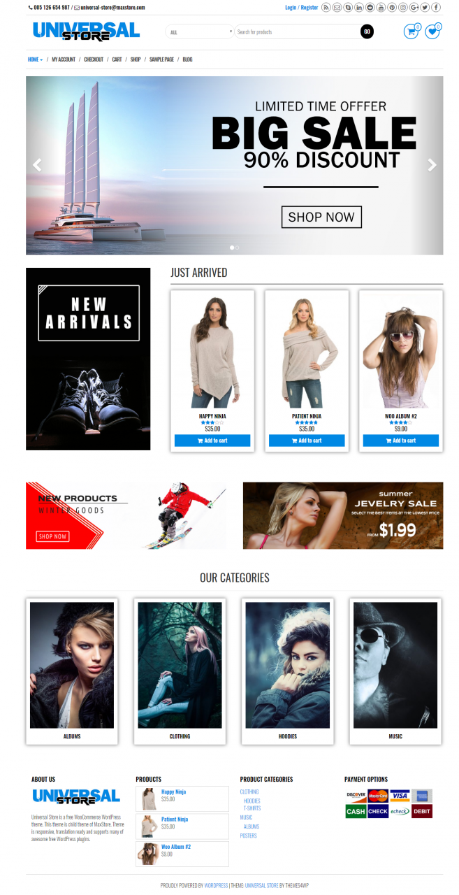 Universal Store – Free WooCommerce WordPress Theme
