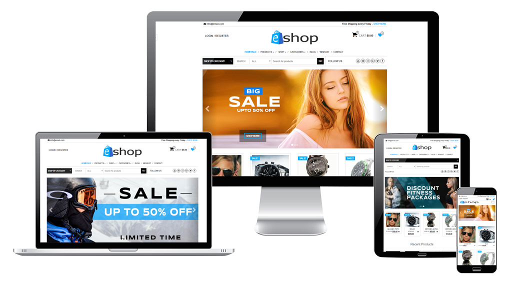 Free WooCommerce Theme for WordPress - E-shop