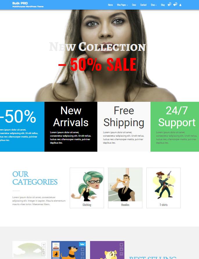 Bulk PRO - Elementor WordPress Theme with WooCommerce support
